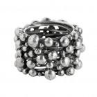 Ring TANUJ006, Silber oxidiert Gr.62