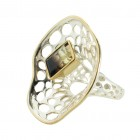 Ring T048, silver, lemon quartz, size 56