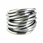 Ring TANUJ050, Silber oxidiert Gr.58