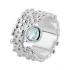 Ring T056, silver 925°°°, blue topaz