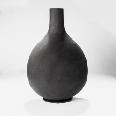 Büste Holz schwarz matt/ H33xB22,5xT12cm
