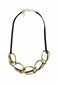 Collier NAYIDA, col. silber/ gold