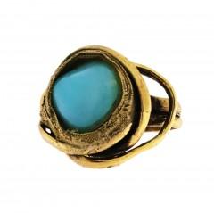 Ring PRENSES, col. gold antique, agathe