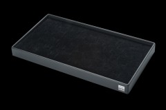 Tray/ 32 rings, L42x B23xT3,5cm black