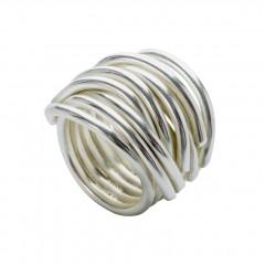 Ring NERAJ019, col. silver white