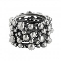 Ring TANUJ006, Silber oxidiert