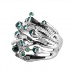 Ring ODU, Silber, Blautopas