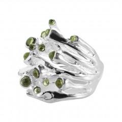 Ring ODU, Silber, Peridot