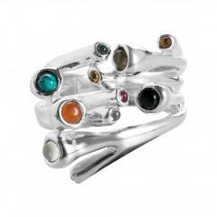 Ring RENATO, Silber 925°°°, precious stones