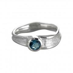 Ring ROCCO, Silber 925°°°, Blautopas