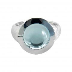 Ring T053, Silber 925°°°, Blautopasc