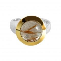 Ring T053, Silber 925°°°, silber/gold Helenshair