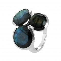 Ring T055, Silber 925°°°, Labradorit