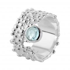 Ring T056, Silber 925°°°, Blautopas Preis