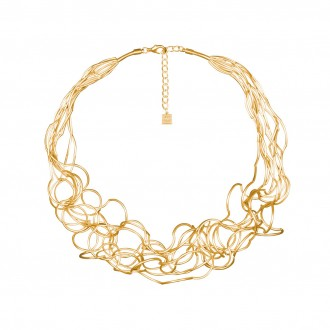 Collier CURLY, col. gold satin
