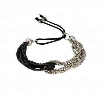 Armband AWINITA, col. silber/ schwarz