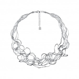 Collier CURLY, col. silber satiniert