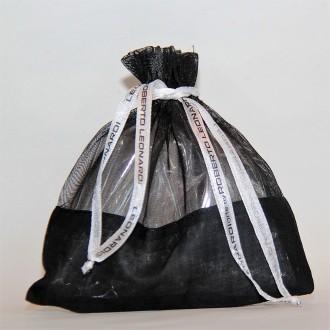 Säckchen, Organza schwarz groß 14,5 x 14,5 cm