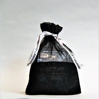 Säckchen, Organza schwarz klein 8,5 x 13 cm